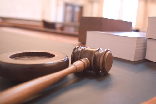 Hammer and Gavel in a court room