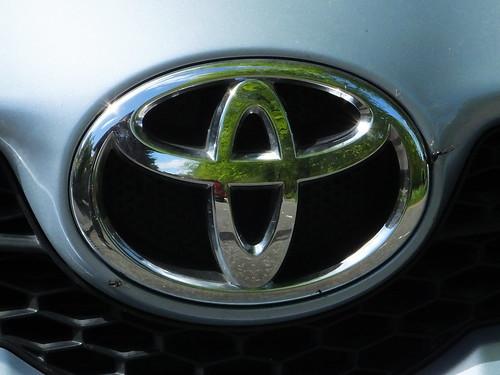 Close on Toyota symbol