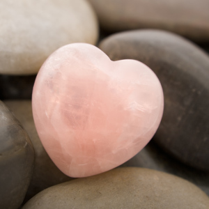 Rose quartz promotes healthy love