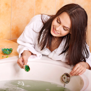 Mineral baths can remove negative energy