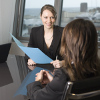 Eye contact helps you build trust with an interviewer.