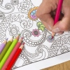 Many adult coloring books features images with intricate patterns.
