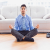 After a long day at work, meditate to feel more at peace