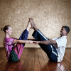 Couple's yoga strengthens relationships as well as muscles